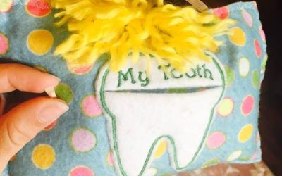Tooth Shaped Pillows now available from the Tooth Collector Fairies